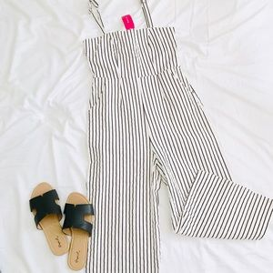 NWT Love Culture Pin stripe Jumpsuit size M
